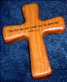 Emmaus laser engraved hand cross